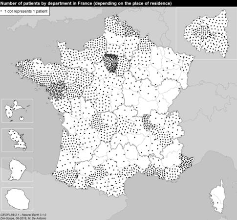 La Dystrophie Myotonique est présente dans toutes les régions françaises, à une ou deux exceptions près. Sur cette page, vous trouverez quelques données chiffrées avec le nombre de personnes atteintes, leurs âges etc ... Et les 12 projets que DM-Scope a adossés afin de vaincre cette maladie.